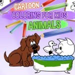 Cartoon Coloring for Kids: Color the Animals