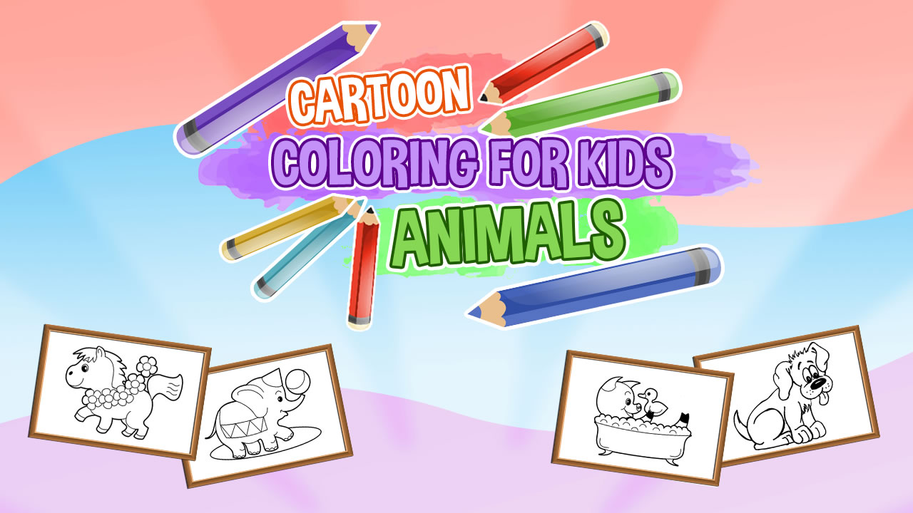 Image Cartoon Coloring for Kids: Color the Animals