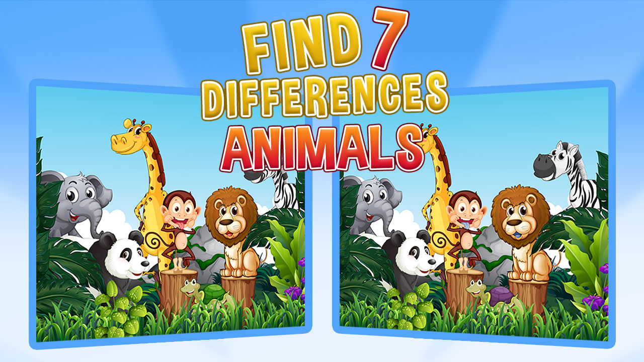 Image Find Seven Differences Animals