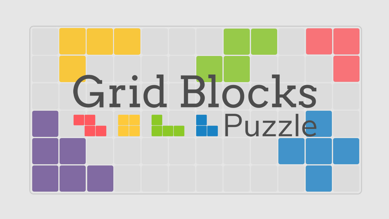 Image Grid Blocks Challenge: Rotating Tetris Board