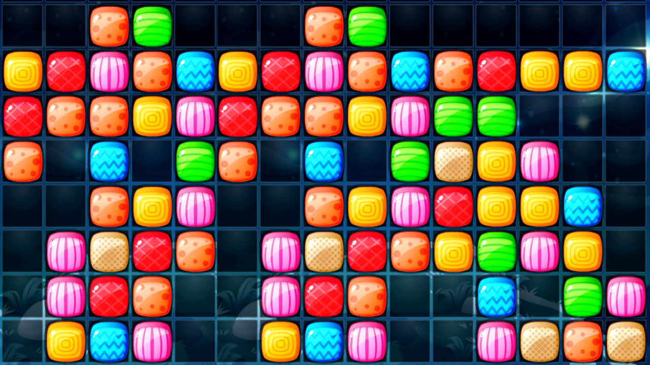 Jelly Cubes Game: Low-Pressure Tetris