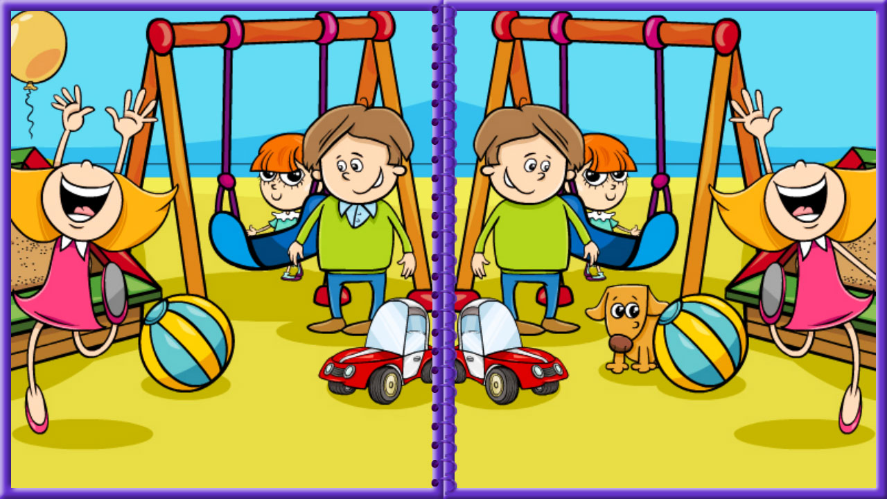 Image Easy Spot-the-Difference Game for Kids