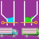 Color Water Trucks: Pull Pin Physics Game