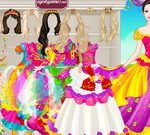 Barbie Colorful Bride Dress Up