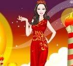 Barbie Fire Princess Dress Up